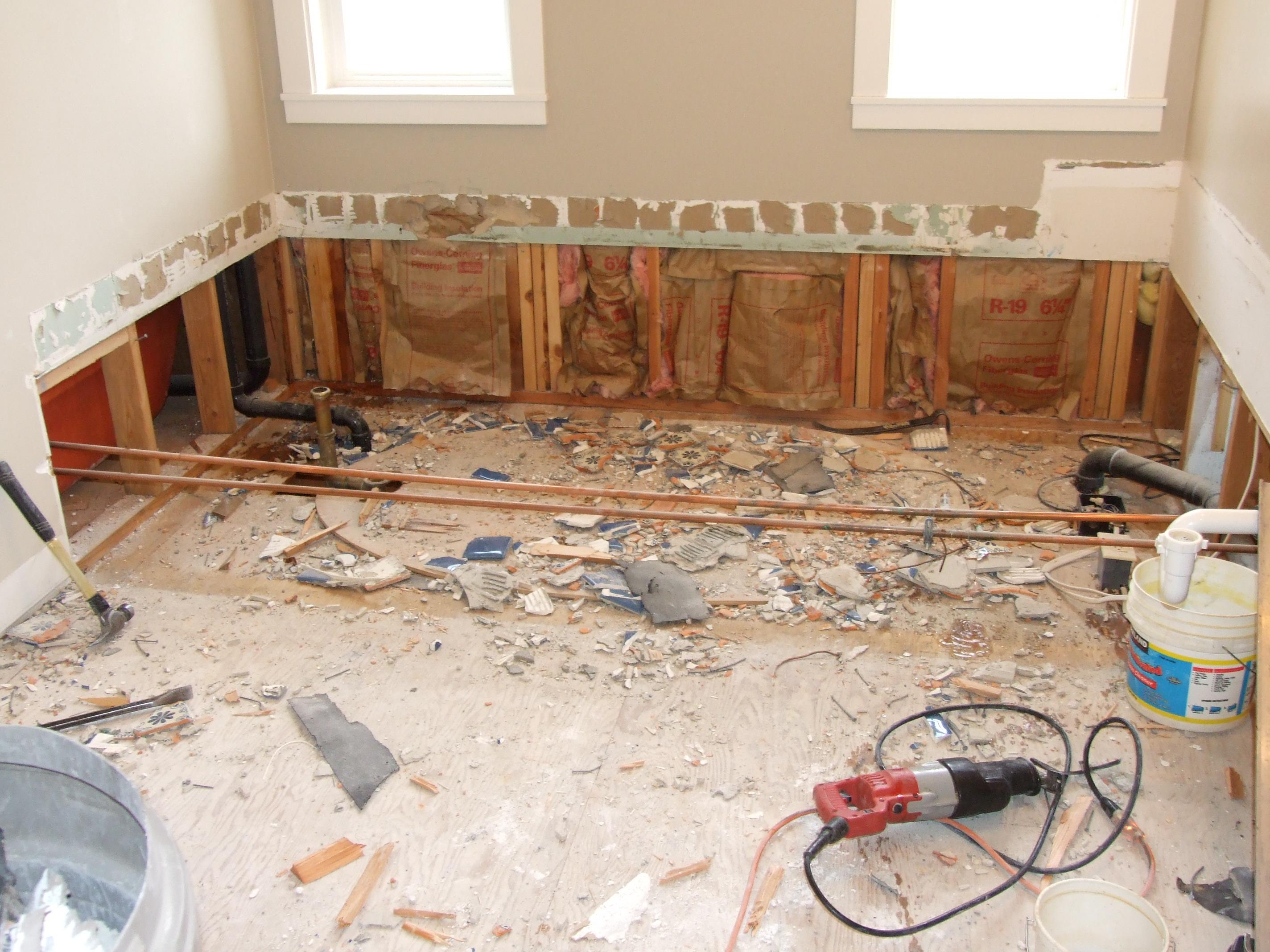 How to demo a bathroom 28 images renovation adventures for Diy bathroom demolition